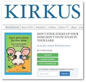 Kirkus review of Don't Stick, Don't Stuff book